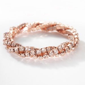 NIB Touchstone Blush Twisted Stretch Bracelet